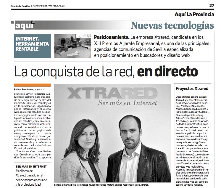 Entrevista realizada por Diario de Sevilla a los socios de XTRARED